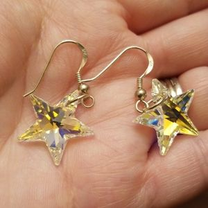 Amazing Sterling & Swarovski Star Earrings